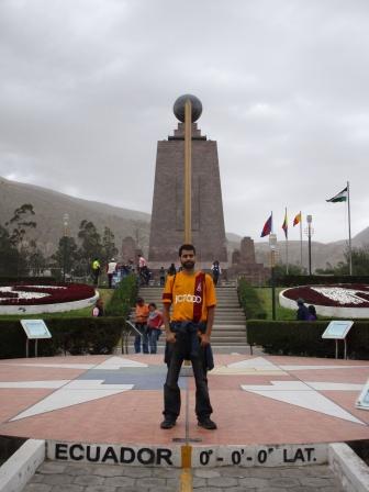 Equator line, ecuador
