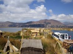 Floating island, lake titicaca