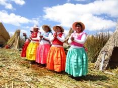 Floating island, lake titicaca